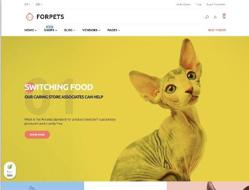 Website Hewan forpets animal wordpress