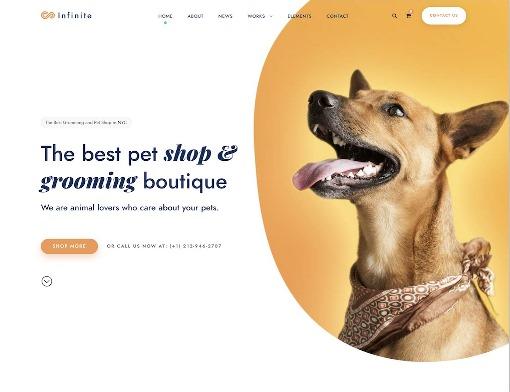 Website Hewan infinite animal wordpress theme