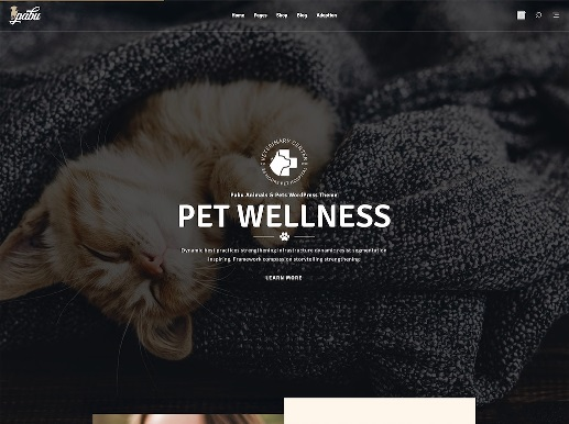 Website Hewan pabu animal wordpress theme