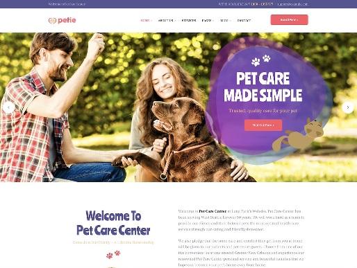 Website Hewan petie animal wordpress theme