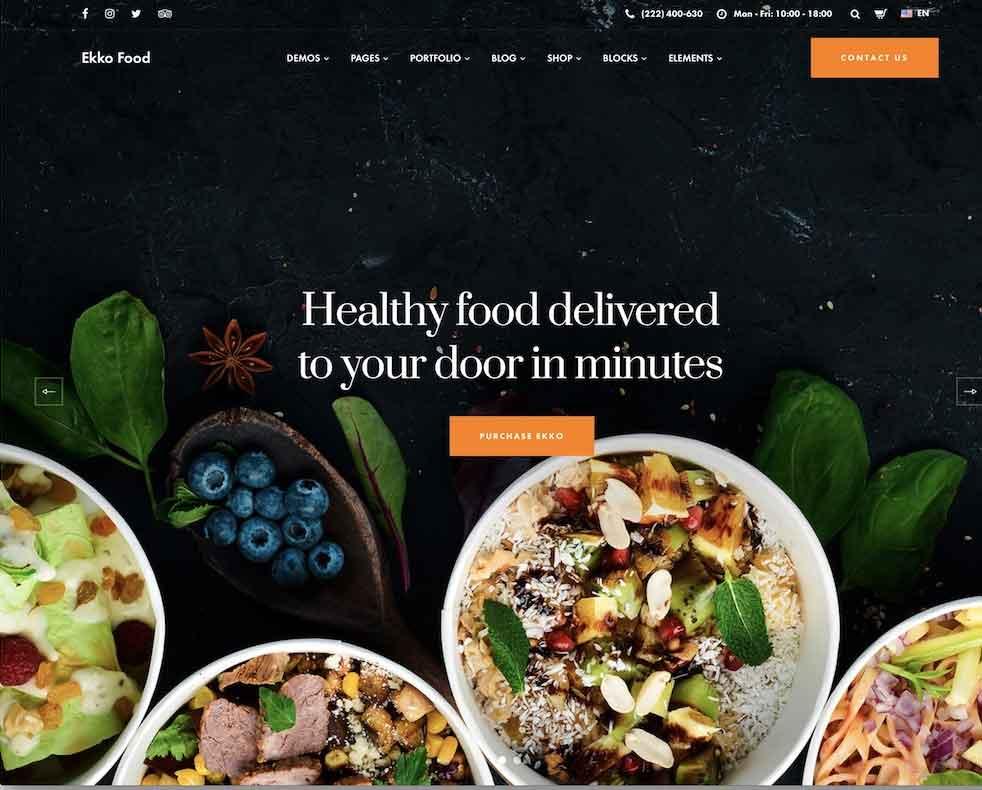 Food Website CateringRestoran