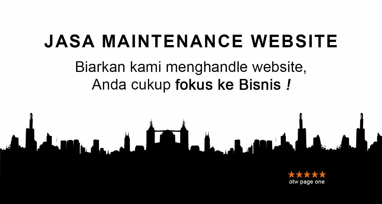 Jasa Maintenance Website Wordpress
